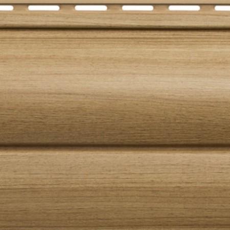 Сайдинг виниловый Альта профиль Карелия BlockHouse двойной BH-03 (3 х 0,226м) Каштан - фото