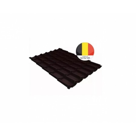 Металлочерепица Классик 0,5 Atlas RAL 8017 Шоколад - фото #1