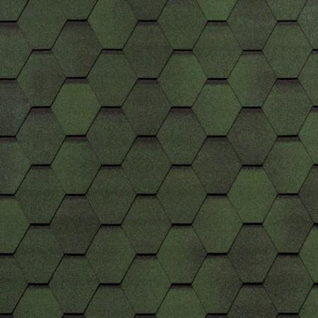 Гибкая черепица Tegola Нордик Зеленый с отливом - фото #1