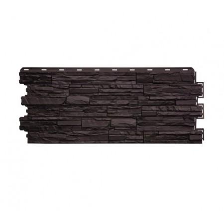 Фасадная панель Сланец Шоколадный - фото