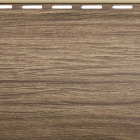 Сайдинг виниловый Альта профиль Карелия BlockHouse одинарный BH-01 (3,10 х 0,2м) Орех - фото