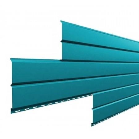 Металлический сайдинг Lбрус 15х240 ПРМ Голубой металлик - фото #1