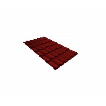 Металлочерепица Квинта плюс 0,45 Polyester RAL 3011 Коричнево-красный - фото #1