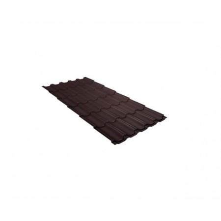 Металлочерепица Квинта плюс 0,5 Стальной бархат RAL 8017 Шоколад - фото #1