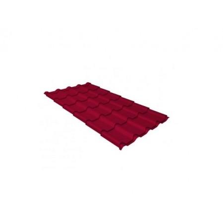Металлочерепица Камея 0,5 Satin RAL 3005 Красное вино - фото