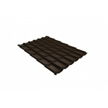 Металлочерепица Монтеррей 0,45 Polyester RAL RR 32 Темно-коричневый - фото