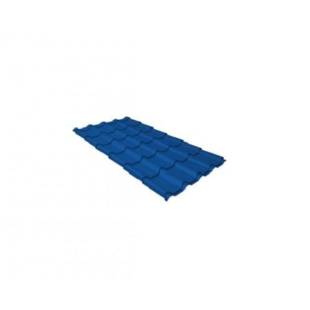 Металлочерепица Камея 0,5 Satin RAL 5005 Сигнальный синий - фото