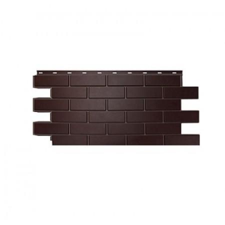 Фасадная панель Nordside Гладкий кирпич Темно-коричневый - фото