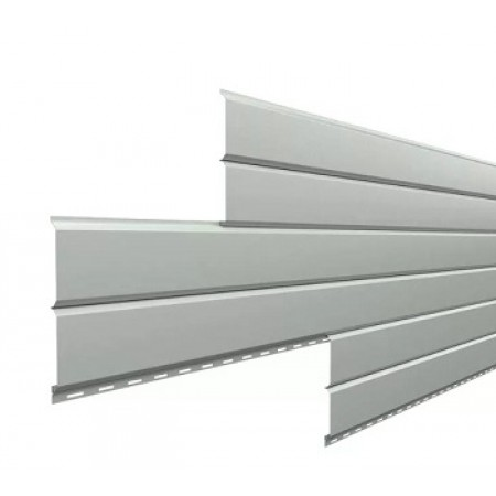Металлический сайдинг Lбрус 15х240 NormanMP RAL 9006