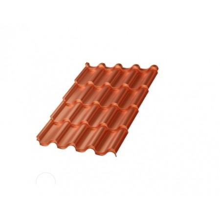 Металлочерепица МП Монтерроса AGNETA 0,5 Copper Агнета - фото