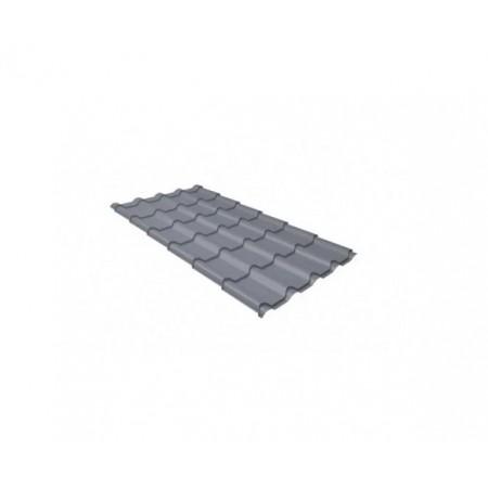 Металлочерепица Квинта плюс 0,45 Polyester RAL 9006 Бело-алюминиевый - фото #1