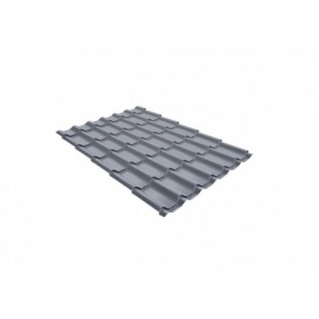 Металлочерепица Монтеррей 0,45 Polyester RAL 9006 Бело-алюминиевый - фото