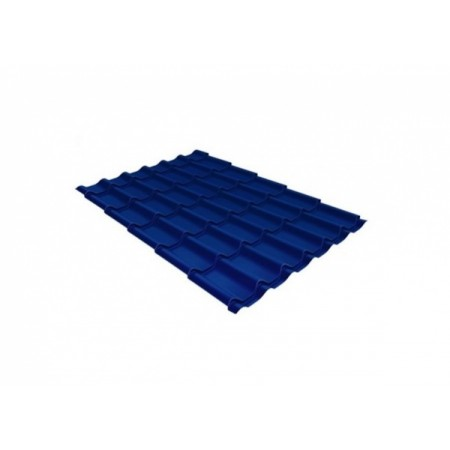 Металлочерепица Монтеррей 0,4 Polyester RAL 5005 Сигнальный синий - фото