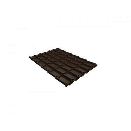 Металлочерепица Классик 0,45 Drap RR 32 Темно-коричневый - фото