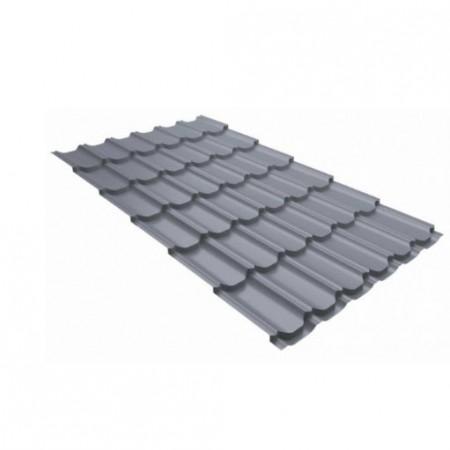 Металлочерепица Квинта плюс 0,45 Polyester RAL 7004 Сигнальный серый - фото #1