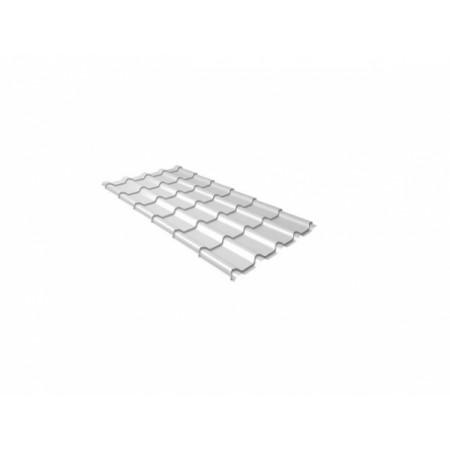 Металлочерепица Квинта плюс 0,5 Satin RAL 9003 Сигнальный белый - фото