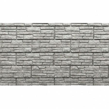 Фасадная панель U-plast Стоун-хаус Сланец Светло-серый - фото
