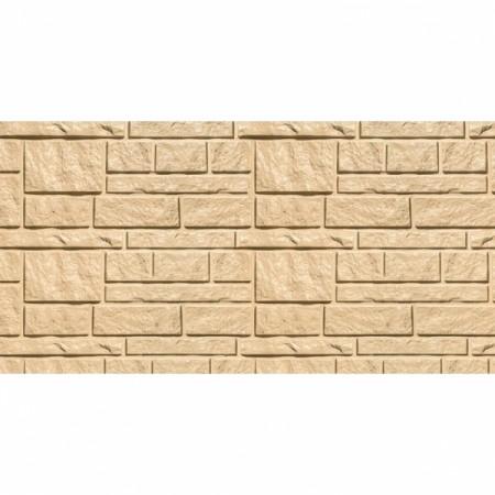 Фасадная (цокольная) панель Tecos Натуральный камень Бежевая - фото