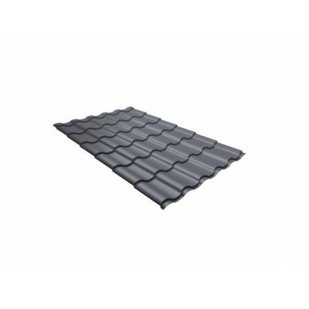 Металлочерепица Кредо 0,45 Polyester RAL 9006 Бело-алюминиевый - фото #1