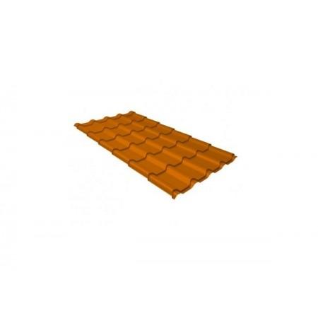 Металлочерепица Камея 0,45 Polyester RAL 2004 Оранжевый - фото #1