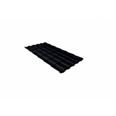 Металлочерепица Кредо 0,5 Стальной бархат RAL 9005 Черный - фото