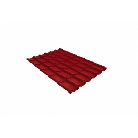 Металлочерепица Монтеррей 0,45 Polyester RAL 3003 Рубиново-красный - фото