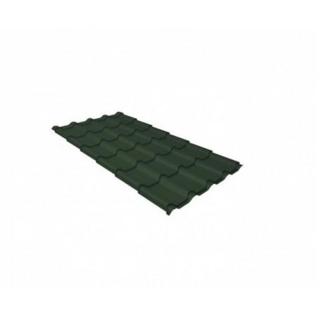 Металлочерепица Камея 0,45 Drap RAL 6020 Хромовая зелень - фото