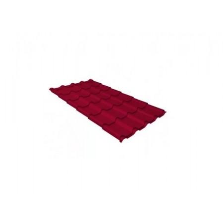 Металлочерепица Камея 0,45 Polyester RAL 3003 Рубиново-красный - фото #1