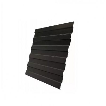 Профнастил С20А GreenCoat Pural RR 32 Темно-коричневый RAL 8019 Серо-коричневый - фото #1
