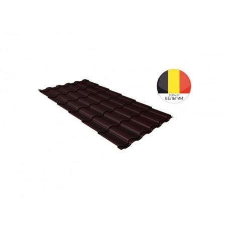 Металлочерепица Камея 0,5 Atlas RAL 8017 Шоколад - фото #1