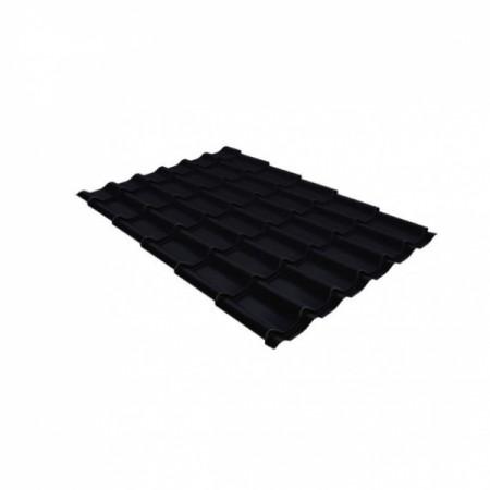 Металлочерепица Квинта плюс 0,5 Satin RAL 9005 Черный - фото #1