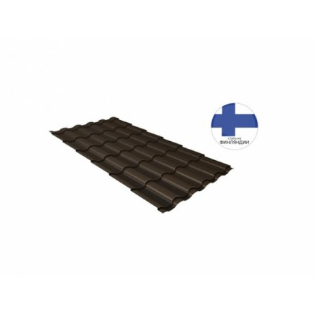 Металлочерепица Кредо GL 0,5 GreenСoat Pural RR 32 Темно-коричневый RAL 8019 серо-коричневый - фото #1