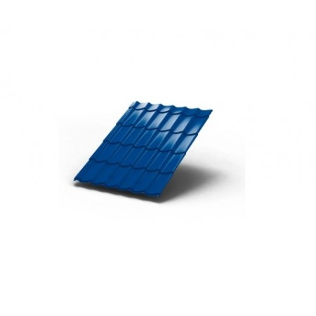 Металлочерепица МП Ламонтерра ПЭ 0,45 5005 Полиэстер - фото