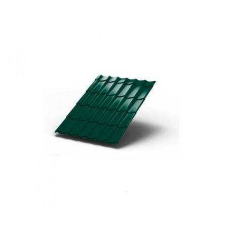 Металлочерепица МП Макси ПЭ 0,45 6005 Полиэстер - фото