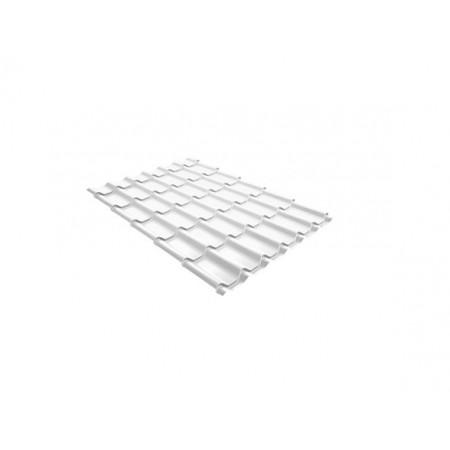 Металлочерепица Классик 0,5 Satin RAL 9003 Сигнальный белый - фото