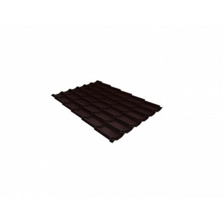 Металлочерепица Классик 0,5 Стальной бархат RAL 8017 Шоколад - фото #1