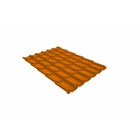 Металлочерепица Монтеррей 0,45 Polyester RAL 2004 Оранжевый - фото #1