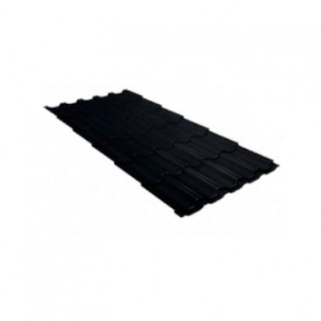 Металлочерепица Квинта плюс 0,5 PurLite Matt RAL 9005 Черный - фото #1