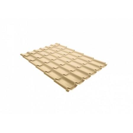 Металлочерепица Монтеррей 0,45 Polyester RAL 1014 Слоновая кость - фото