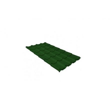 Металлочерепица Камея 0,45 Polyester RAL 6002 Лиственно-зеленый - фото