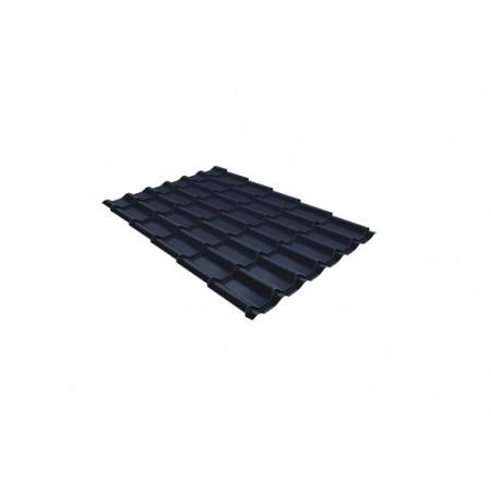 Металлочерепица Классик 0,45 Drap RAL 7024 Мокрый асфальт - фото
