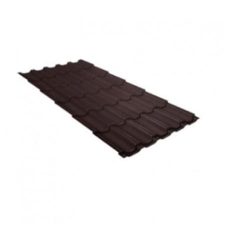Металлочерепица Квинта плюс 0,5 Satin Matt RAL 8017 Шоколад - фото