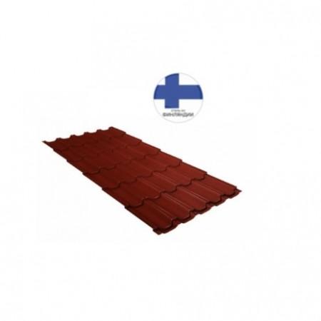 Металлочерепица Квинта плюс 0,5 GreenCoat Pural RR 29 красный (RAL 3009 оксидно-красный) - фото #1