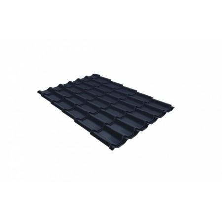 Металлочерепица Классик 0,45 Polyester RAL 7024 Мокрый асфальт - фото #1