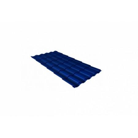 Металлочерепица Кредо 0,5 Satin RAL 5005 Сигнальный синий - фото #1