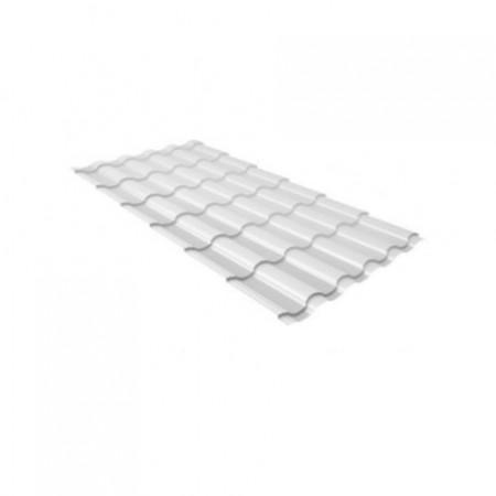 Металлочерепица Камея 0,5 Velur20 RAL 9003 Сигнальный белый - фото #1
