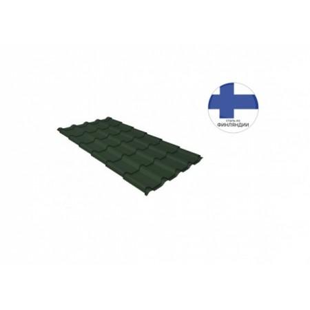 Металлочерепица Камея 0,5 GreenCoat Pural matt RR 11 Темно-зеленый RAL 6020 Хромовая зелень - фото #1