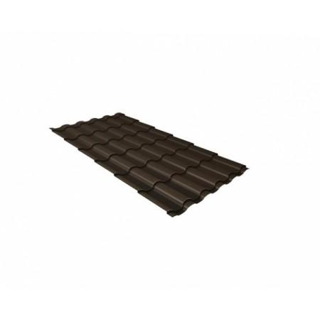 Металлочерепица Камея 0,5 Satin RR 32 Темно-коричневый - фото