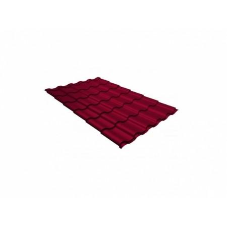 Металлочерепица Кредо 0,45 Polyester RAL 3003 Рубиново-красный - фото #1