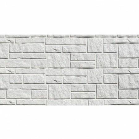 Фасадная (цокольная) панель Tecos Натуральный камень Белая - фото